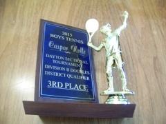 2015 Dayton Sectional Tournament Doubles 3rd Place Caspar Nolte