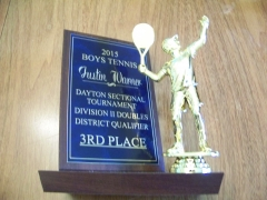 2015 Dayton Sectional Tournament Doubles 3rd Place Justin Warner