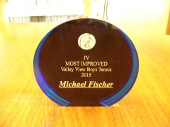 2015 JV Most Improved Award Michael Fischer