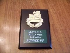 2015 MVTCA JV Tournament 1st Doubles 2nd Place Trophy Michael Fischer, Carter Nolte