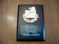 2015 MVTCA JV Tournament 2nd Singles 3rd Place Trophy Chase Midkiff