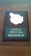 2015 MVTCA JV Tournament Runner Up Trophy