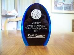 2015 Most Improved Award Kofi Gunter