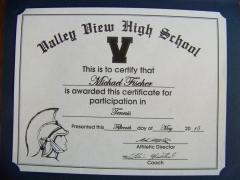 2015 Participate Certificate Michael Fischer