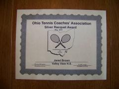 2015 Silver Raquet Award Jared Brown