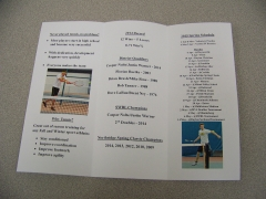 2015 Tennis Meeting Phamplet Front