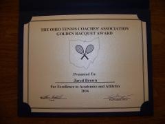 2016 Golden Raquet Award Jared Brown
