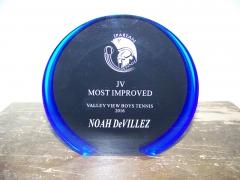 2016 JV Most Improved Award Noah DeVillez