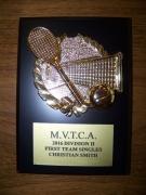 2016 MVTCA 1st Team Singles Christian Smith