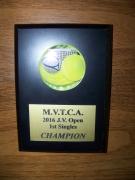 2016 MVTCA JV Tournament 1st Singles Place Trophy Justin DeVilbiss