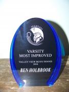 2016 Most Improved Award Ben Holbrook