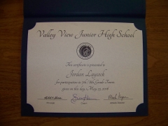 2016 Participate Certificate Jordan Laycock