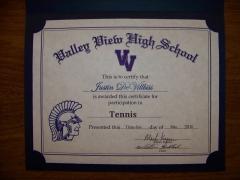 2016 Participate Certificate Justin DeVilbiss