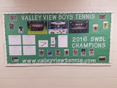 2017 Boys Tennis Display
