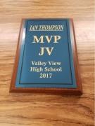 2017 JV MVP Award Ian Thomason