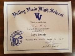 2017 Participate Certificate Bryce Worley