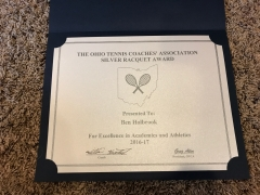 2017 Silver Raquet Award Ben Holbrook