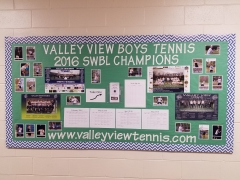 2018 Boys Tennis Display