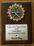 2018 Dough Riley Sportsmanship Award Randy King