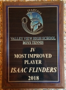 2018 JV Most Improved Award Isaac Flinders