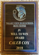 2018 JV Will To Win Award Caleb Cox