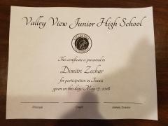 2018 Participate Certificate Dimitri Zechar
