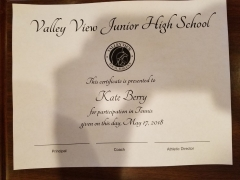 2018 Participate Certificate Kate Berry