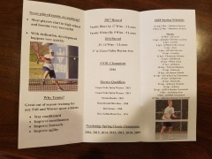 2018 Tennis Meeting Pamplet Back